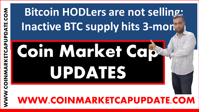 Bitcoin HODLers are not selling: Inactive BTC supply hits 3-month low