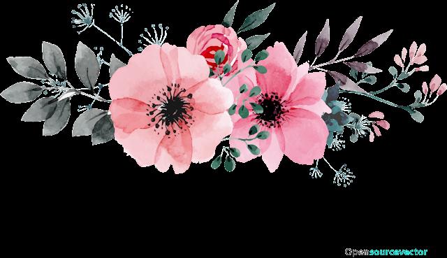 Gri Yapraklı Pembe Çiçekler