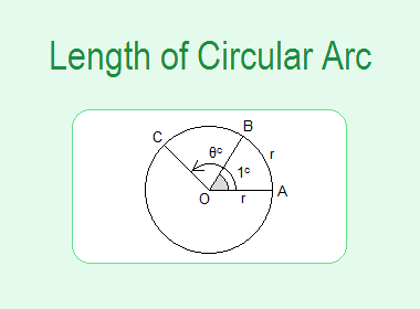 Length of Circular Arc