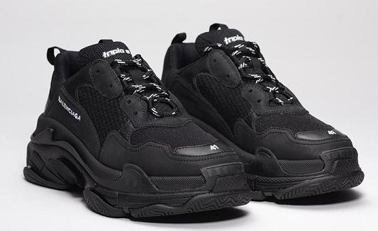 Giày thể thao Balenciaga Triple S Sneakers All Black