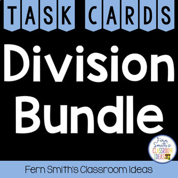 Third Grade Go Math Chapter Seven Division Facts and Strategies Task Card Bundle