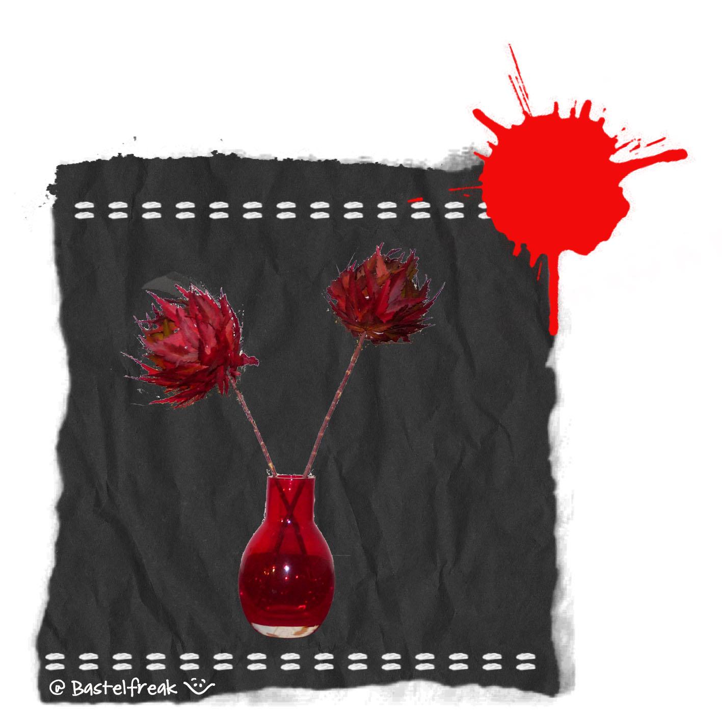 bastelfreak herbstblumen aus laub. Black Bedroom Furniture Sets. Home Design Ideas