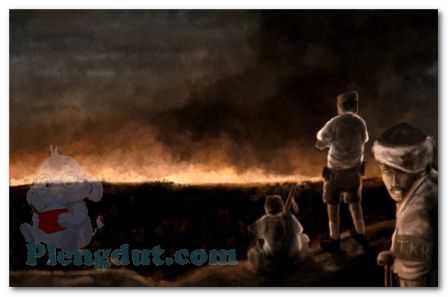 Ilustrasi selama pembakaran berlangsung
