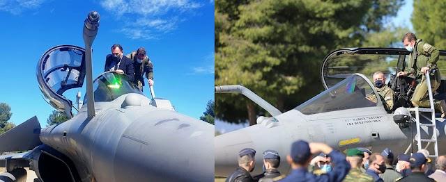 «Test drive» στα Rafale έκαναν Παναγιωτόπουλος και Α/ΓΕΕΘΑ (ΦΩΤΟ)