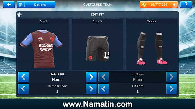 Seragam Dream League Soccer PSM Makassar