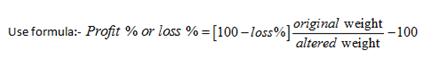 Profit and loss important formulas