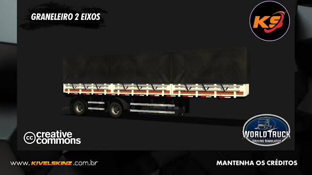 GRANELEIRO 2 EIXOS - BRANCO COM FAIXAS ROXAS