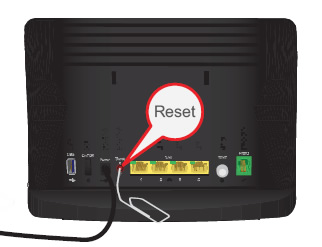 steps to reset the Verizon router