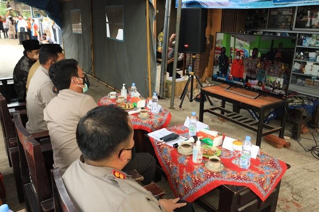 Kapolda Jatim Ikuti Launching Polri TV Dan Radio Di Daerah Terdampak Gempa Bumi