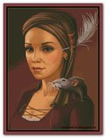 Девушка с крысявкой