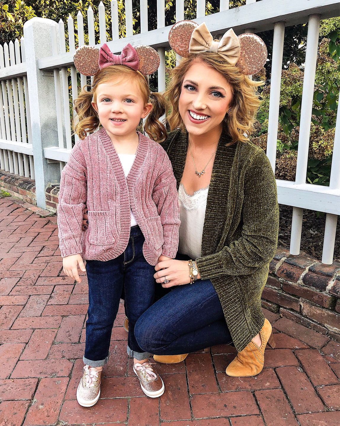 Mommy and Me Velvet Bow Minnie Mouse Ears for Disney on Ice - Something Delightful Blog