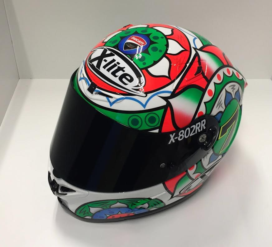 racing helmets garage x lite x 802rr c davies imola 2016. Black Bedroom Furniture Sets. Home Design Ideas