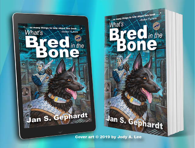 """""""A Bone to Pick"""" by Jan S. Gephardt, envisioned as an ebook on the left and as a trade paperback on the right."""
