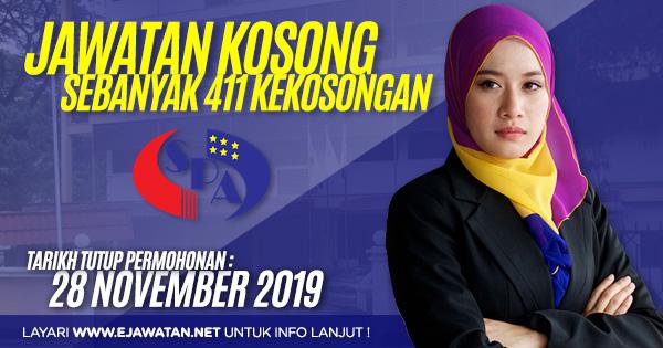 jawatan kosong kerajaan SPA Malaysia november 2019