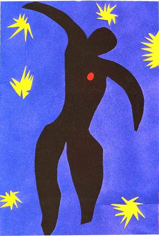 Ícaro - Pinturas de Matisse, Henri - (Fauvismo) Francês