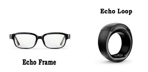 Alexa smart glass and smart ring by Amazon(Echo loop and Echo frame)