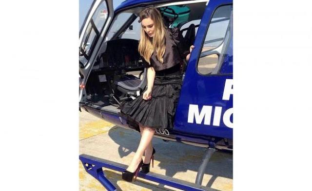 Belinda usó helicóptero de la Policía de Michoacán para ver al Papa Francisco