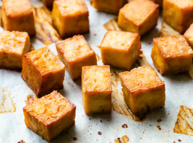 How to Make Crispy Baked Tofu #vegan #recipes