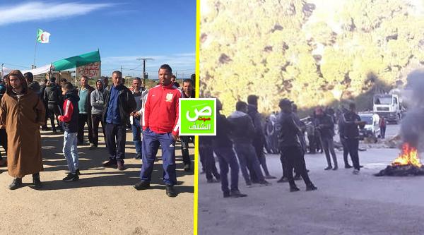 إحتجاجات في الشرق و الغرب .. حدود ولاية الشلف تعيش الحصار والعزلة