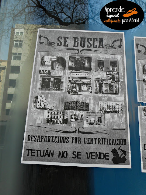 Aprende español callejeando por Madrid: Yo gentrifico