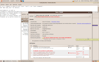 Reparación de sectores dañados en Disco Duro con GNU/Linux (disco vivo de ubuntu) 1