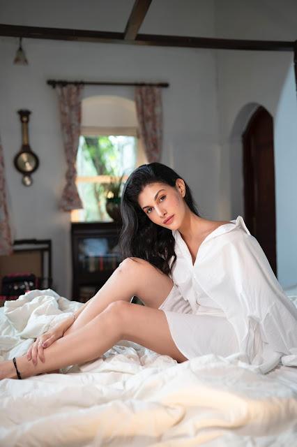 Indian Actress Amyra Dastur Latest Stills in White Dress Actress Trend