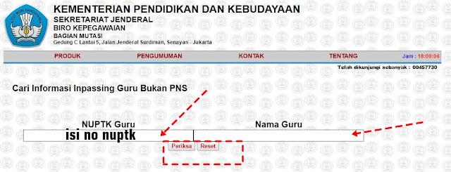 Cek Inpassing Non PNS 2016/2017 GBPNS Kemdikbud Sekarang Sudah Update Fitur