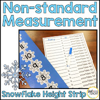 Snowflake Non-Standard Height Measurement, www.justteachy.com