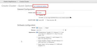Amazon EMR Cluster Advance Option