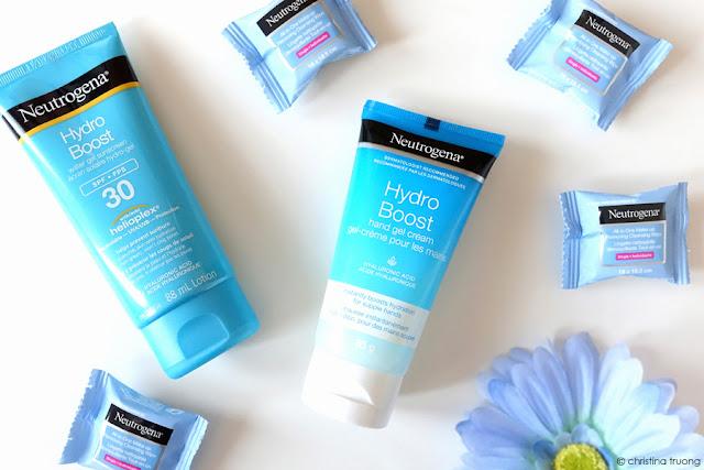 Weekend Getaway Essentials featuring Neutrogena Hydro Boost Hand Gel Cream, Neutrogena Hydro Boost Water Gel Sunscreen SPF 30, Neutrogena All-In-One Make-up Removing Cleansing Single Wipes Review