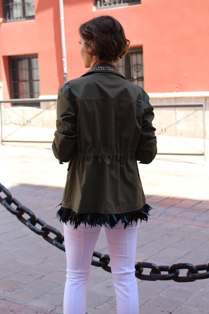Fitness And Chicness-Pinko Military Feather Jacket Aracne-8