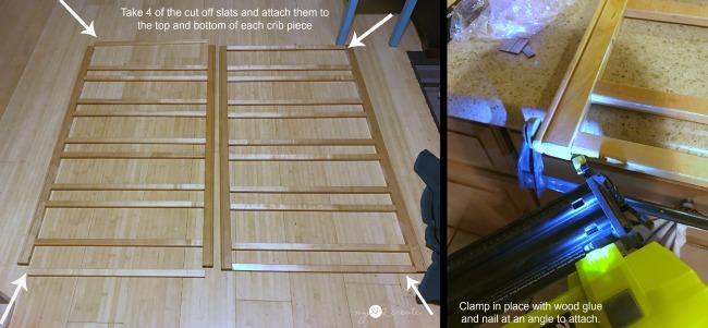 reattaching crib slats