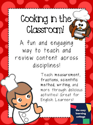 Cooking in the classroom is a fun--but often messy--activity that you can do to integrate all content areas. Of course, reading is integrated, but you can also teach things such as the scientific method, measurement, and even the history of foods!