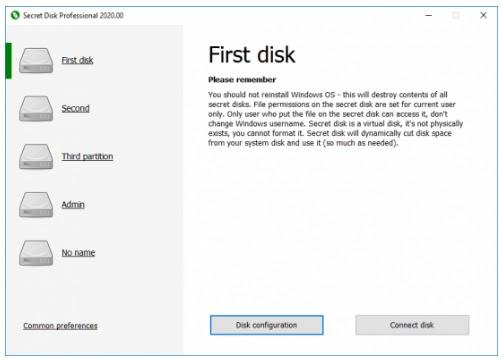 تحميل برنامج Secret Disk Professional 2021.00 لإدارة الأقراص وحمايتها بكلمة مرور وإخفائها