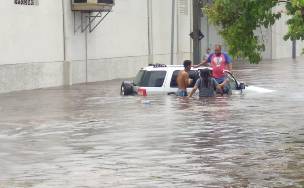 Chuva causa alagamentos, derruba árvores e deixa motoristas ilhados na região