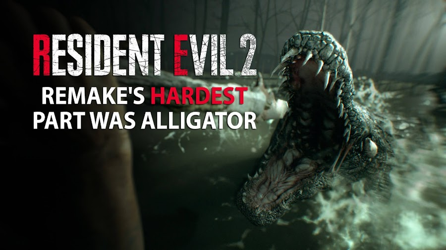 resident evil 2 remake alligator