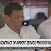 Duterte latest news today: Gov't cancell of airport contract