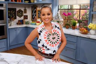 Fausto Gallard's ex-wife Marcela Valladolid in a kitchen