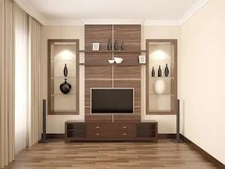 ديكورات خشب تلفزيون معلق جميل جدا