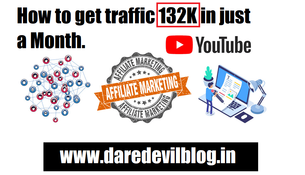 How to get traffic 132K in just a Month