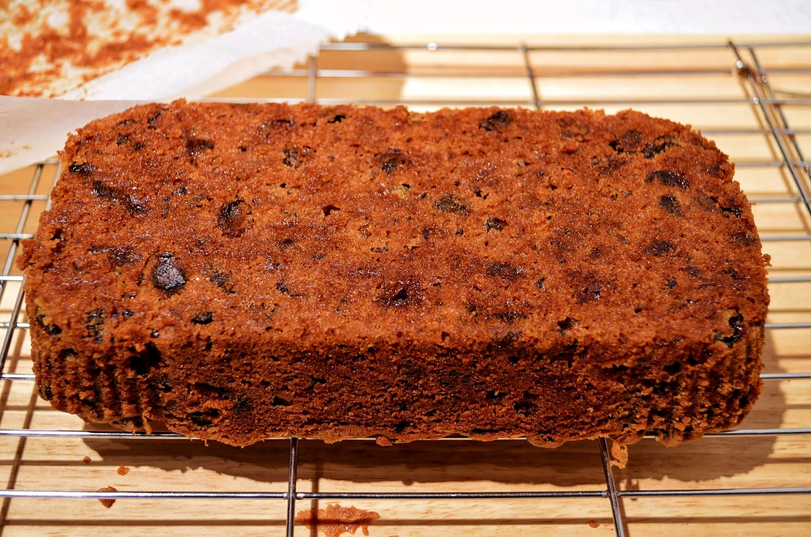 Making Christmas Cake In A Loaf Tin