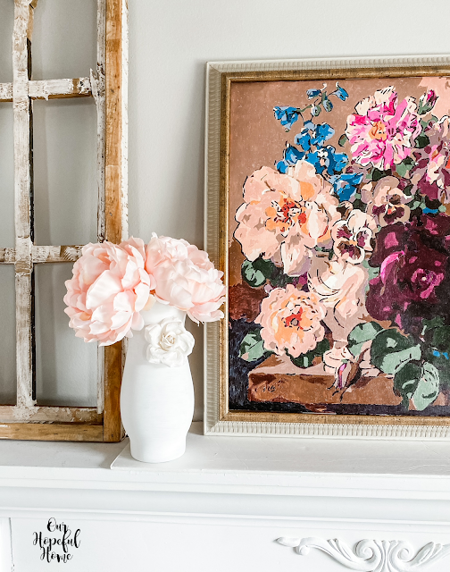 gold frame still life floral painting