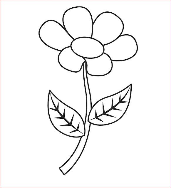 sketsa-bunga-mudah