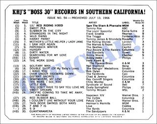 KHJ Boss 30 No. 54 - July 13, 1966