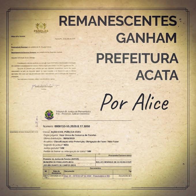 REMANESCENTES GANHAM - PREFEITURA ACATA