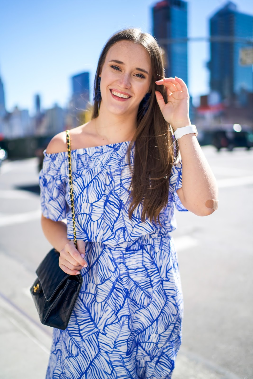 Banana Leaf Dress For Spring by popular New York fashion blogger Covering the Bases