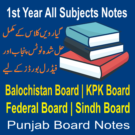 All Subjects First Year Past Papers And Chapter Wise Notes In PDF