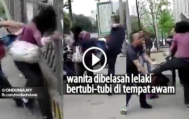 Video: Lelaki Belasah Wanita Bertubi-tubi Di Tempat Awam