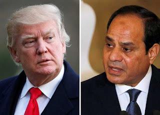 الرئاسة المصرية: التوافق بين السيسي وترامب على تثبيت وقف اطلاق النار في ليبيا