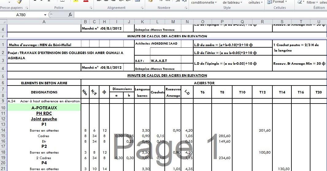 Sample Excel Templates: Devis Construction Maison Excel